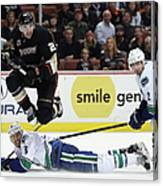 Vancouver Canucks V Anaheim Ducks Canvas Print