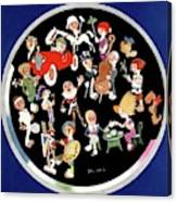 Vanity Fair Cover Featuring Caricatures Doing Canvas Print