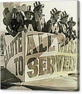 Veteran's Day Parade University Of Arizona Tucson Arizona Black And White Toned Canvas Print