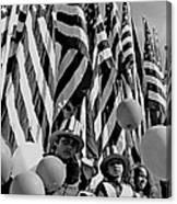 Veteran's Day Parade University Of Arizona Tucson Black And White Canvas Print