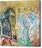 Vezelay Church And Hill Canvas Print
