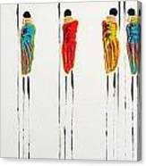 Vibrant Masai Warriors - Original Artwork Canvas Print