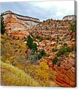 View Along East Side Of Zion-mount Carmel Highway In Zion National Park-utah   Canvas Print
