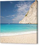 View From Beach, Navagio Bay Canvas Print