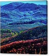 View From Table Rock Mountain Canvas Print