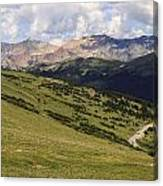 view from the Trail Ridge Road. Canvas Print