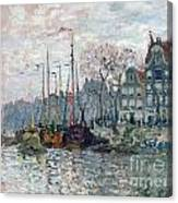 View Of The Prins Hendrikkade And The Kromme Waal In Amsterdam Canvas Print