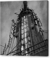 View Of The Top Of The Empire State Building Radio Mast New York City Canvas Print