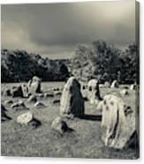 Viking Burial Ground, Lindholm Hoje Canvas Print
