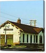Villisca Train Depot Canvas Print