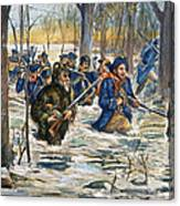 Vincennes: March, 1779 Canvas Print