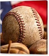 Vintage Baseball Canvas Print