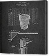 Vintage Basketball Goal Patent From 1925 Canvas Print