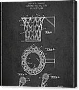 Vintage Basketball Goal Patent From 1951 Canvas Print