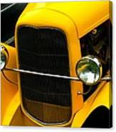 Vintage Car Yellow Detail Canvas Print