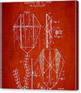 Vintage Folding Kite Patent From 1892 Canvas Print