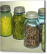 Vintage Kitchen Glass Jar Canning Canvas Print