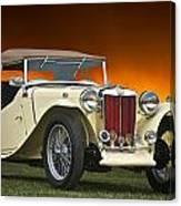 Vintage Mg Roadster Canvas Print