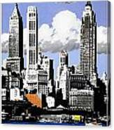 Vintage New York Travel Poster Canvas Print