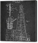 Vintage Oil Drilling Rig Patent From 1911 Canvas Print