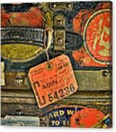 Vintage Steamer Trunk Canvas Print