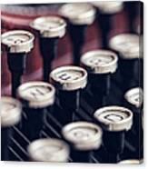 Vintage Typewriter Keys Canvas Print