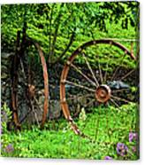 Vintage Wagon Wheel Gate Canvas Print