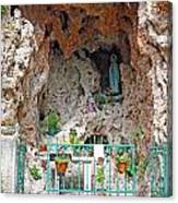 Virgin Mary Grotto Canvas Print