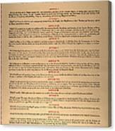 Virginia Constitution, 1776 Canvas Print