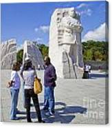 Visitors At The Martin Luther King Jr Memorial Canvas Print