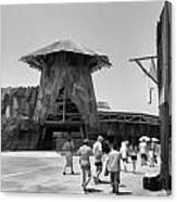 Visitors Heading Towards The Waterworld Attraction Canvas Print