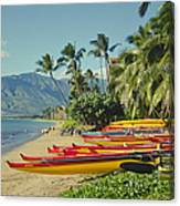 Kenolio Beach Sugar Beach Kihei Maui Hawaii  Canvas Print