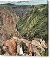 Walls Of The Black Canyon Canvas Print