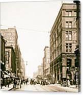 Walnut Street - Kansas City 1906 Canvas Print