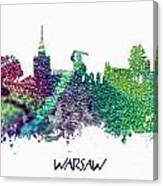 Warsaw City Skyline Canvas Print