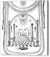 Washington Masonic Apron Canvas Print