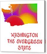Washington State Map Collection 2 Canvas Print