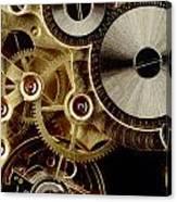 Watch Mechanism. Close-up Canvas Print