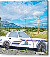 Watch Out For The Rcmp Near Destruction Bay In Yukon-canada Canvas Print