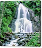 Waterfall In A Forest, Moss Glen Falls Canvas Print