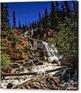 Waterfall In Jasper 1 Canvas Print