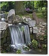 waterfall in park Klarenbeek in Arnhem Netherlands Canvas Print