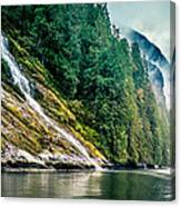 Waterfall Jervis Inlet Canvas Print