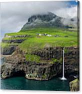 Waterfall Near Gasadalur, One Canvas Print