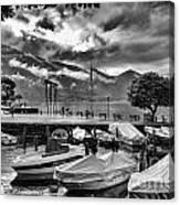 Waterfront At Ascona Canvas Print