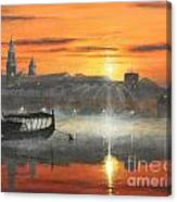 Wawel Sunrise Krakow Canvas Print