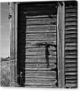 Weathered Door With Hanging Chain Canvas Print