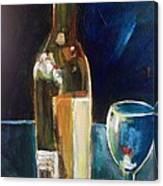 Wedding Cake Wine Night Canvas Print