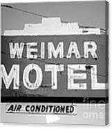Weimar Motel Sign Canvas Print