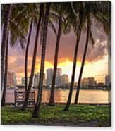 West Palm Beach Skyline Canvas Print